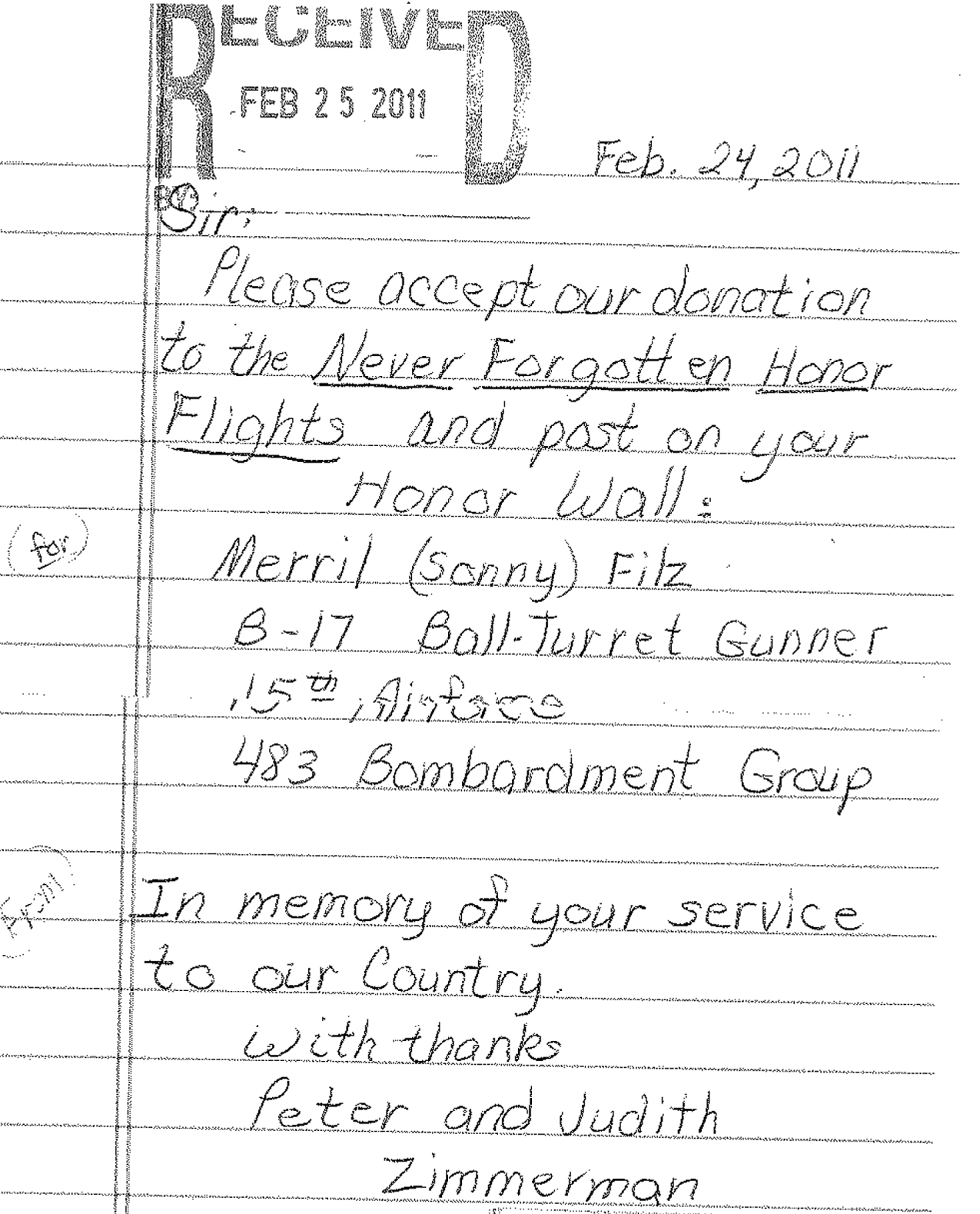 Never Forgotten Honor Flight - We fly our Veterans to see the ...